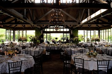 Wedding pavilion reception area with movable glass walls Rain or Shine Event. Rustic Barn Venue.
